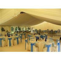 Buy White PVC Canopy Wedding Event Tents 20x30m Aluminum Alloy Clear Span Marquee at wholesale prices