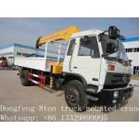 Quality Dongfeng 8ton truck mounted crane for sale for sale