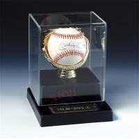 Quality SGS Baseball Acrylic Display Stand Case / Sport Acrylic Advertising Display for sale