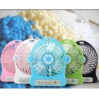 Buy Rechargeable Portable Mini Fans With LED Light 18650 Battery Outdoor hand kids at wholesale prices
