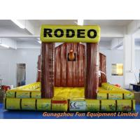 Quality 5 * 5m Inflatable Bouncy Castle / Inflatable Jumping Mat For Mechanical Rodeo Bull for sale