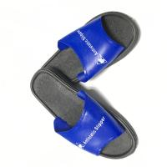 Quality Washable PVC Slipper Economic ESD Safety Shoes Color Blue Upper w/Black Sole for sale