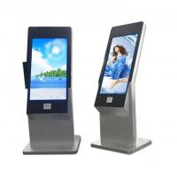 China 43 Inch Floor Stand Interactive IR Touch Screen Kiosk Computer Totem With Webcam And Scanner on sale