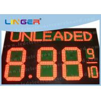 Quality Electronic LED Gas Price Sign With Wireless Controller Box Easy Installation for sale
