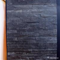 China Black Color Slate Culture Stone Panel Decorative Wall Materials No Radiation on sale