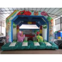 Quality Fire Resistance PVC Kids Inflatable Bounce House / Commercial Dinosaur Bouncy Castle for sale