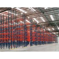 Quality Dark Blue / Orange Red Industrial Pallet Rack Shelving Warehouse Storage Racks for sale