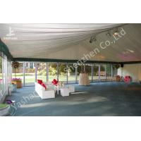 Buy cheap 12m Wide Transparent Glass Wall Wedding Reception Tents Aluminium Frame Tents from wholesalers