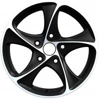 Quality Full painted Black 15 Inch Alloy Wheels 5 Hole For Vehicle for sale