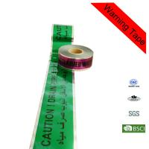 Quality 200m Green Low Density Polyethylene Hazard Underground Detectable Warning Tape for sale