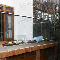 Quality Interior frameless glass balcony systems with powder coated Aluminum U channel for sale