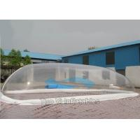 Quality Decoration Bubble Tent Night Transparent Inflatable Swimming Pool Cover for sale