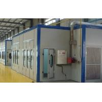 China Automatic Recycling Sandblasting Booth With Steel Plate / Sandwich Panel Chamber Material on sale