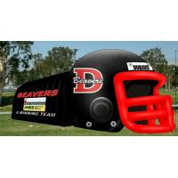 Buy Funny Adults Commercial Inflatable Football Helmet Tunnel With Fireproof Tarpaulin at wholesale prices