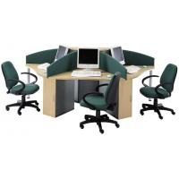 Modern Wooden Material Office Furniture Partitions For 3 Person OEM Service