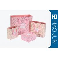 China Custom Boutique Shopping Bags 100% Recyclable Gift Paper Bags Pink Color on sale