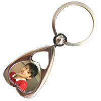 Heart Shaped Personalized Metal Keychains Custom Crafts Souvenir Gift