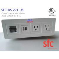 Buy cheap Edge Mount Desktop Power Outlet With USB 2 Port , 2 Outlet Power / Data from wholesalers