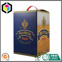 Quality CMYK Matte Color Printed Wine Packaging Box; Plastic Handle Wine Corrugated Box for sale