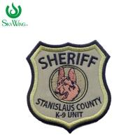 Quality Durable Security Officer Patches For Jackets , Embroidered Hat Patches for sale