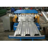 Buy Galvanized Steel Floor Deck Roll Forming Machine , Floor Tile Roll Forming at wholesale prices