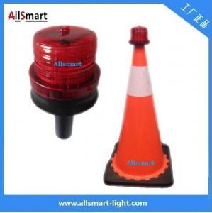 Quality 4LED Sensor Lighting Road Barricade Light Solar LED Warning Light for Traffic Cone for sale
