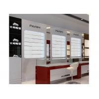 Quality Eyeglasses Shop Glass Display Wall Cabinet With LED Light , Jewellery Display Cabinets for sale
