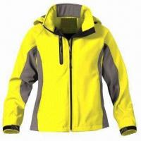 Quality Women's outdoor jacket with 3-layer soft shell fabric for sale