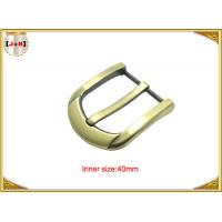 Quality 40mm Customized Fashion Gold Zinc Alloy Pin Belt Buckle Manufacturers for sale