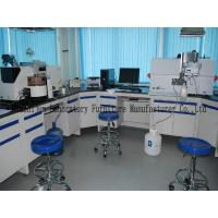 850mm Height Steel Lab Bench Furniture 1.0mm Cold Rolled Material With Sink Faucets