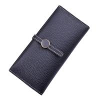 Quality Women PU Leather Money Clip Wallet Durable Hardware Buckle With Polyester Lining Material for sale