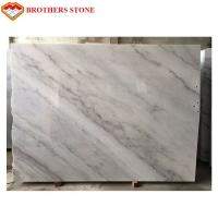 High Polished White Marble Stone Slab 132.8 Mpa Compressive Property for sale