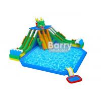 Playground Outdoor Inflatable Aqua Park / 3 Slide Inflatable Water Fun For Children for sale