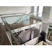 Quality Glass railing designs with stainless steel standoff  for porch railing for sale