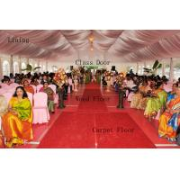 Buy UV Protection Transparent Wedding Marquee Tent Rot Proof With Wood Flooring at wholesale prices