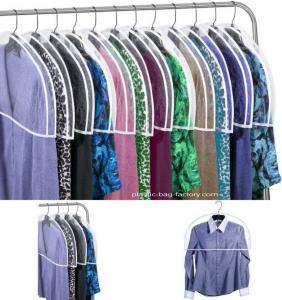 Quality Transparent Plastic Dust-proof Closet Garment Shoulder Cover Plastic Dust-Proof Suits Cover Hanger for sale