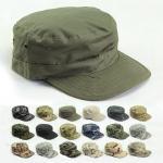 Quality Vintage Cotton Flat Top Military Cap Solid Color Summer Autumn Spring Visor Hat for sale