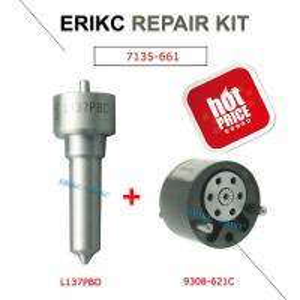 Quality ERIKC delphi 7135-661 injecor repair kits set  L137PBD 9308-621C for EJBR02901D EJBR03701D EJBR02401 for sale