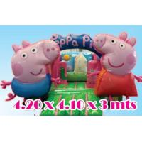 Quality 2016 hot sell  peppa pig inflatable bounce house with 24months warranty GT-BC-1835 for sale