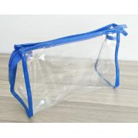 Buy Transparent PVC Cosmetic Bag with Zipper closure , Clear Vinyl Make-Up Pouches at wholesale prices