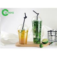 Quality Strong Stiffness Large Plastic Cups With Lids Recyclable For Cold Beverage for sale