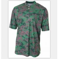 Quality 100% Cotton Sublimation Printing T Shirts Digital Camo Baseball Tee With Pattern for sale