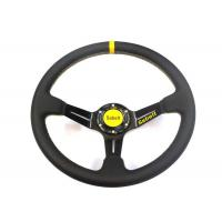 Quality Auto Inner Decoration Race Car Steering Wheel With Chromed Surface  Leather Material for sale