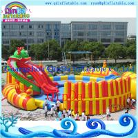 Quality Kids Inflatable Water Slide with a Pool Protable Water Park. Water Pool Slide for sale