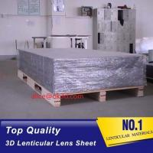 China high density polyurethane foam PET 0.25MM 51x71cm 16LPI lenticular sheet for 3d lenticular card for UV offset printing on sale
