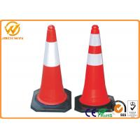 Quality Heavy Duty Rubber Base Traffic Management ConesWater Proof 2.5KG Weight for sale