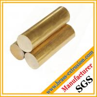 China copper alloy extruded casting round brass bars brass rods on sale