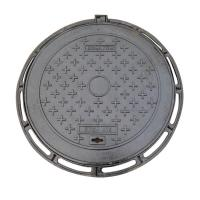 China Durable Ductile Round Cast Iron Manhole Cover For Road Construction on sale