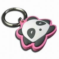 Quality Fancy Couple 3D Keychain/Rubber Keychain, Customized Designs and Sizes Welcomed, Ideal for Promotion for sale
