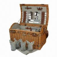 Quality Full Wicker Basket, Made of Cotton and Faux Leather for sale